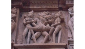 Asian sculpture of sexual intimacy