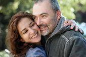 happy latino couple